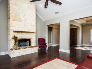 stone fireplace in living room longview tx